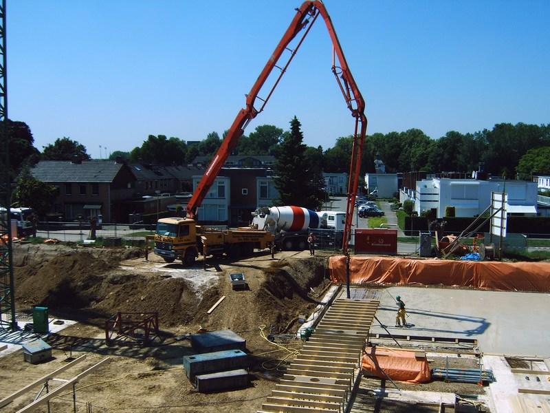 betonmixer, mixerchauffeur, bouw, betonmixer, cementmixer
